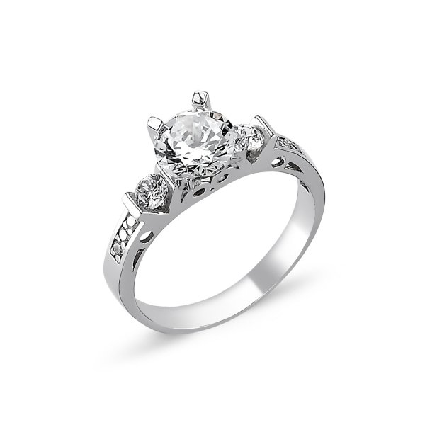 CZ Solitaire Ring - R82312
