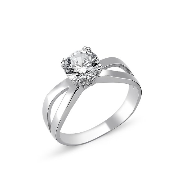 CZ Solitaire Ring - R82316