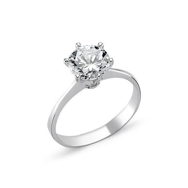 CZ Solitaire Ring - R82317