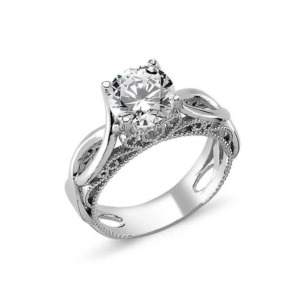 CZ Solitaire Ring - R82320