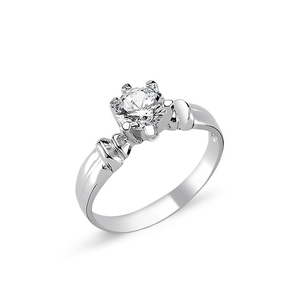 CZ Solitaire Ring  - R82323