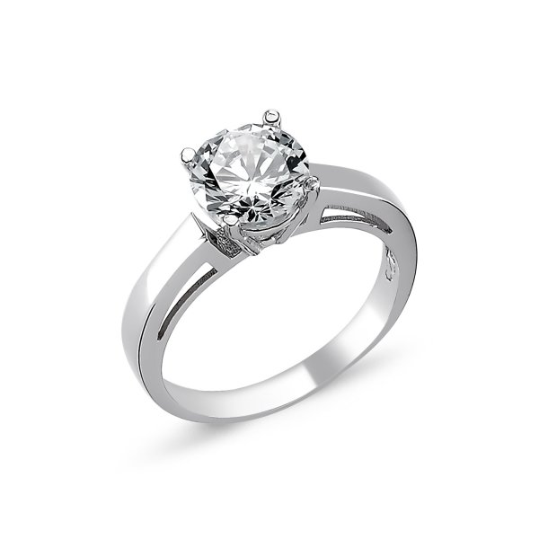 CZ Solitaire Ring  - R82324