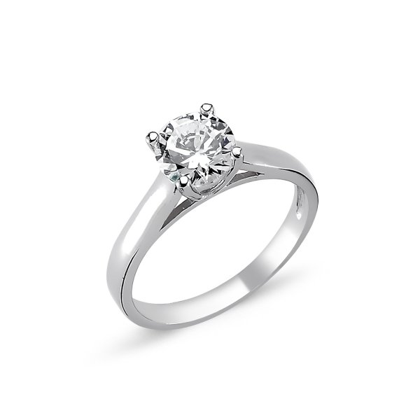 CZ Solitaire Ring  - R82325