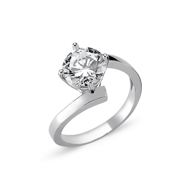 CZ Solitaire Ring - R82326