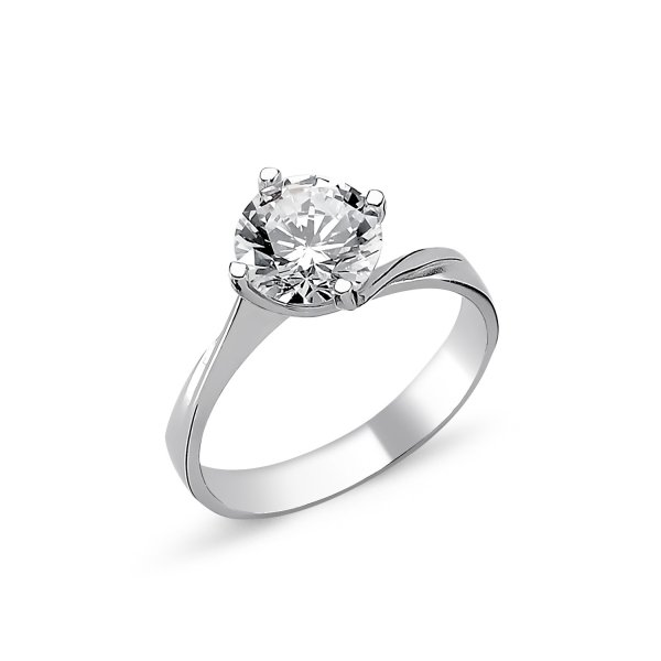CZ Solitaire Ring  - R82327