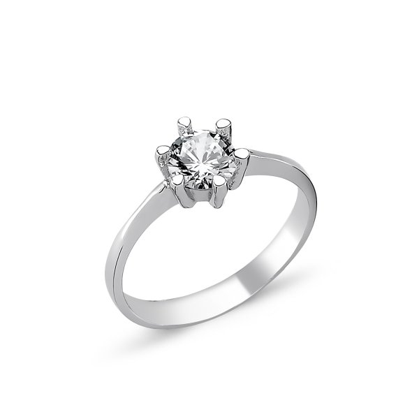 CZ Solitaire Ring  - R82330