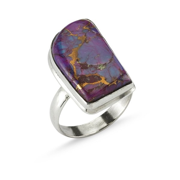 Purple Copper Turquoise Ring  - R82355