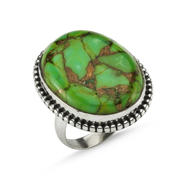 Copper Turquoise Stone Ring - R82366