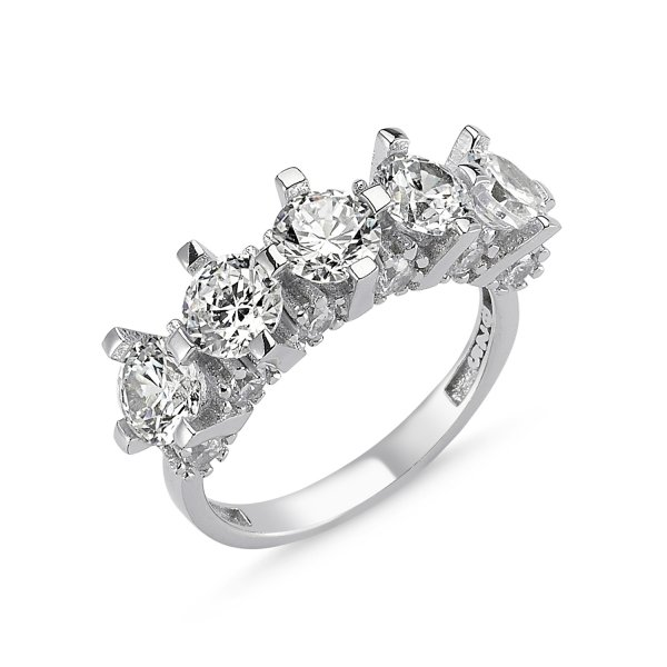 CZ Five Stones Ring  - R82539