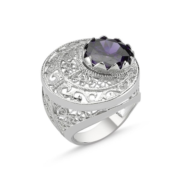 CZ Filigree Ring - R82637