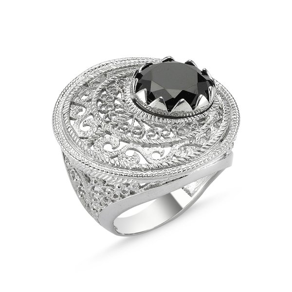 CZ Filigree Ring - R82638
