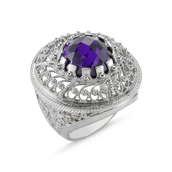 CZ Filigree Ring - R82639