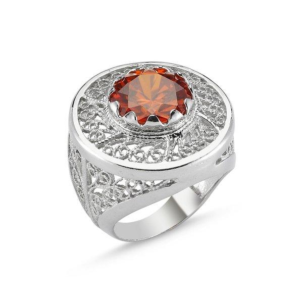CZ Filigree Ring - R82641