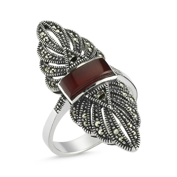 Marcasite Stone Ring - R82736