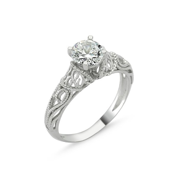CZ Solitaire Ring - R82782