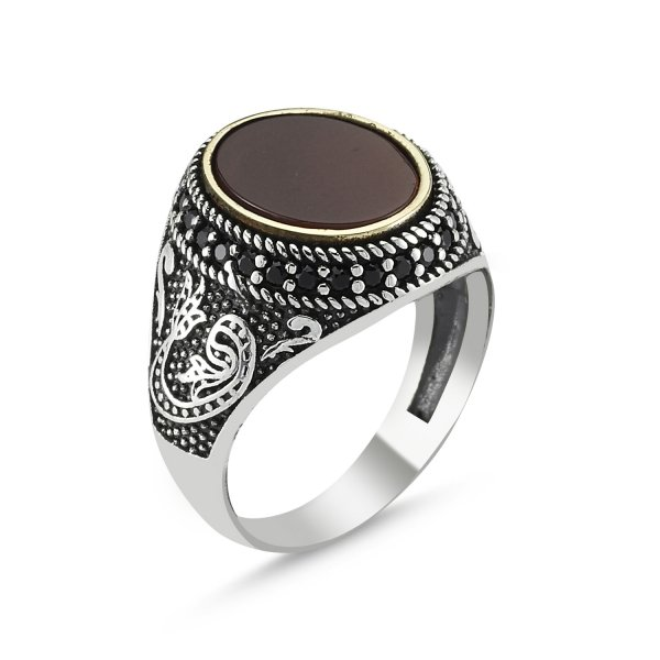 Ottoman Style Waw Ring - R82816