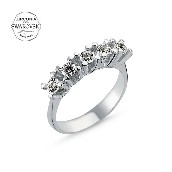 Swarovski Zirconia Five Stone Ring - R82856