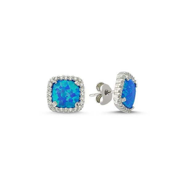 CZ Opal Earrings - E83134