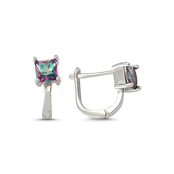 Mystic Topaz CZ Earrings  - E83210