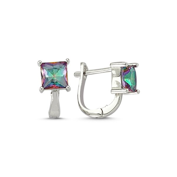 Mystic Topaz CZ Earrings  - E83211