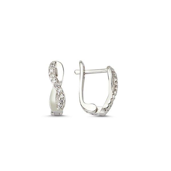 CZ Infinity Earrings - E83226