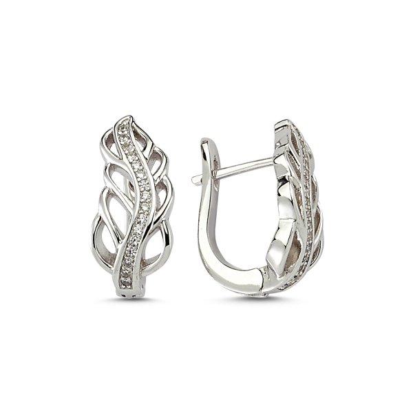 CZ Leaf Earrings - E83230