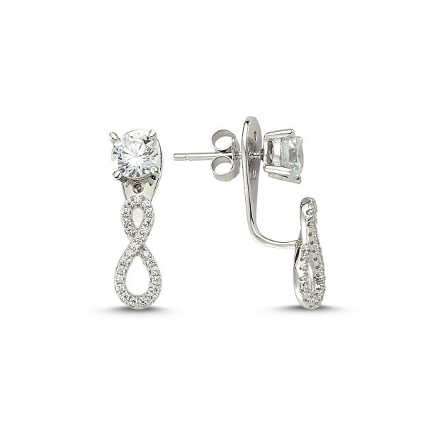 CZ Infinity Double Earrings - E83280