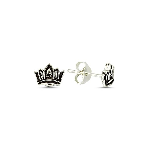 Stoneless Crown earrings - E83294