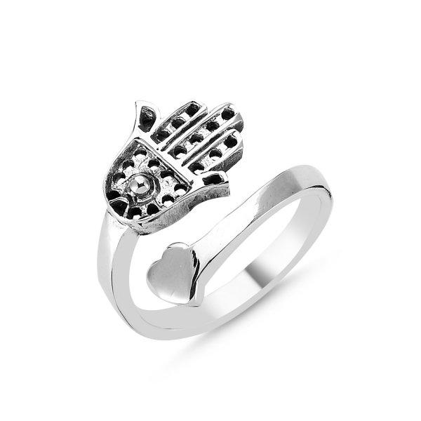 Stoneless Hamsa Ring - R83408