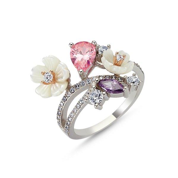 CZ Flower Ring - R83409