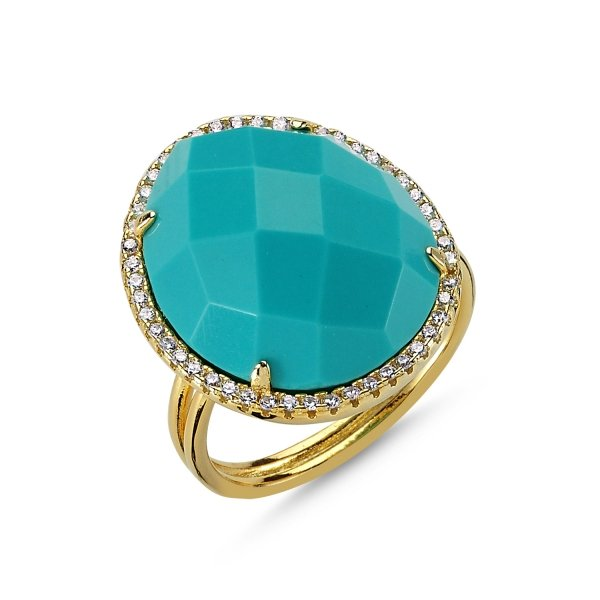 Turquoise Stone Ring - R83410