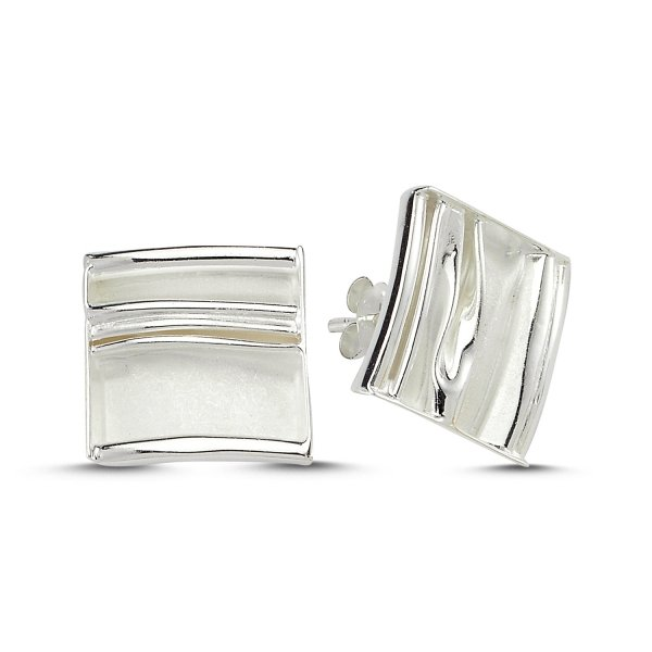 Stoneless Square Earrings  - E83545