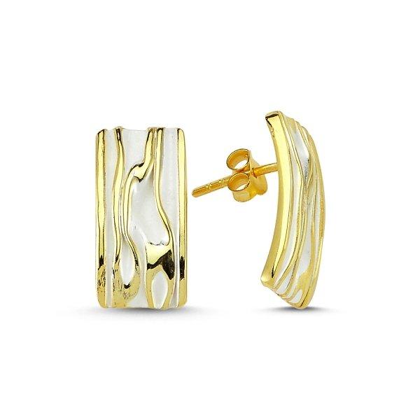Stoneless Rectangle Earrings  - E83548