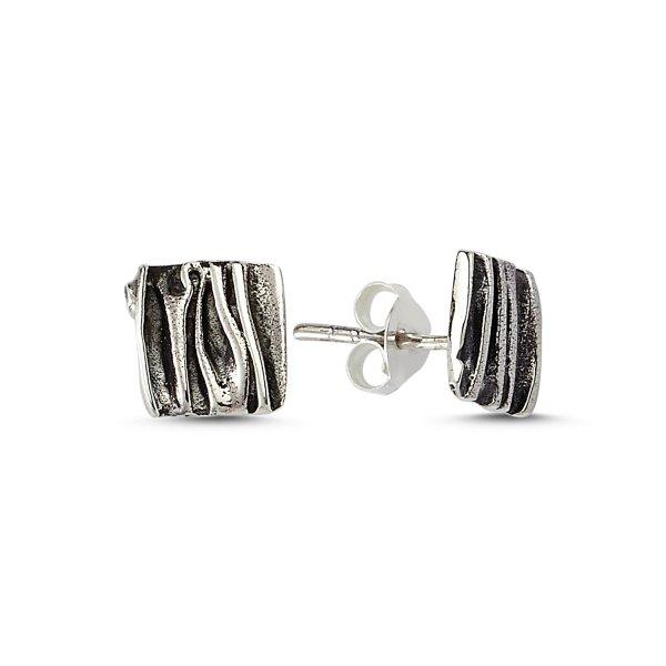 Stoneless Square Earrings  - E83563