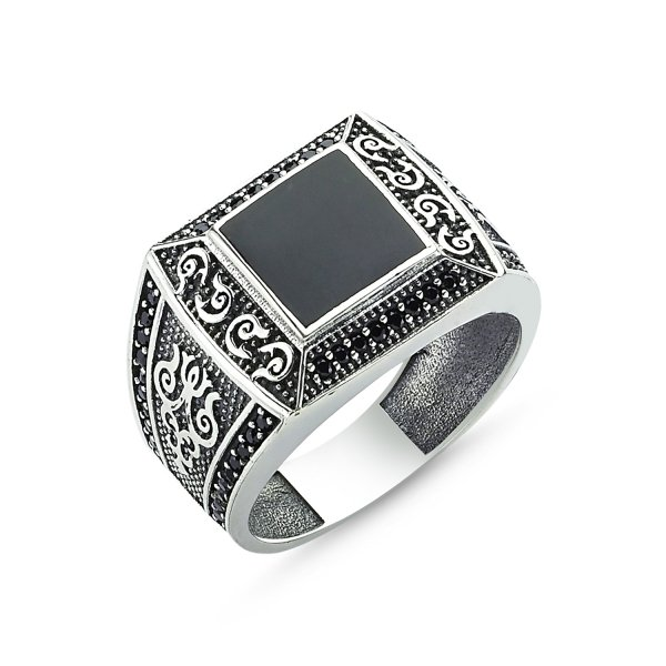 CZ Enamel Ring - R83606