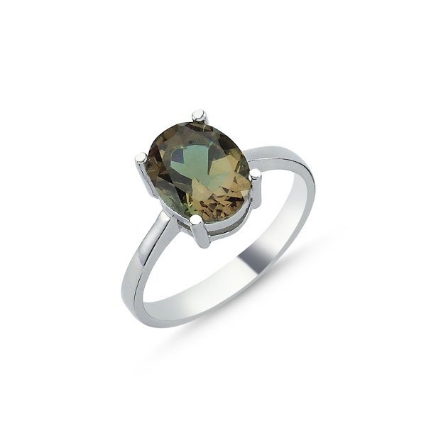 Oval Sultanit Solitaire Ring - R83617