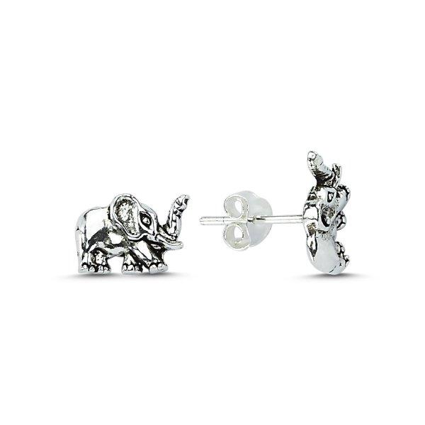 Stoneless Elephant Earrings - E83666