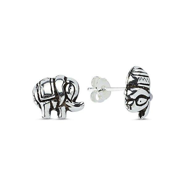 Stoneless Elephant Earrings - E83667