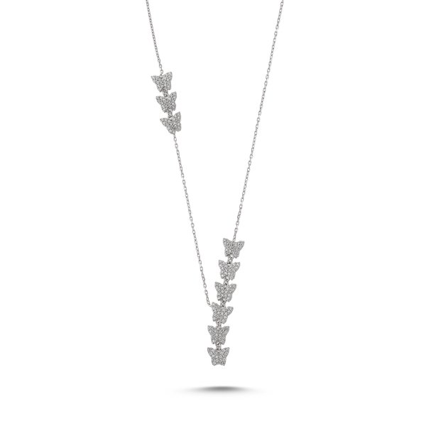 CZ Butterfly Y Necklace - N83679