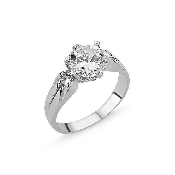 CZ Solitaire Ring  - R83738