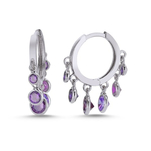 CZ Charm Earrings - E83855