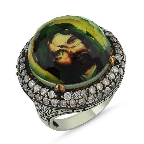 CZ Hazrat Ali Ottoman Style Ring - R83870