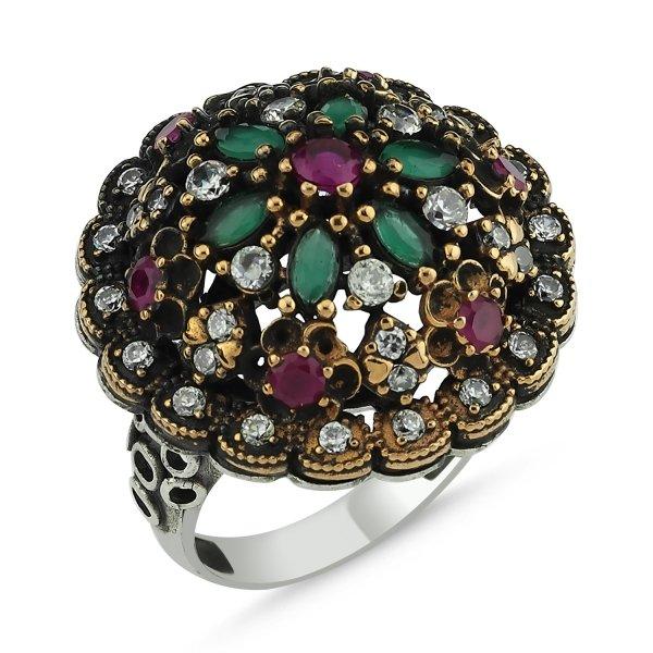 CZ Ottoman Style Ring  - R83878