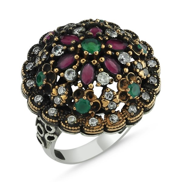 CZ Ottoman Style Ring  - R83879