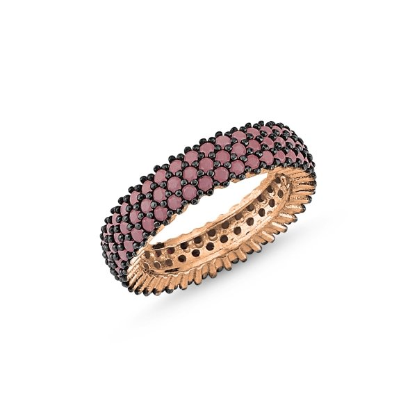 Rose Gold Plated Nano 3 Line Eternity Ring - R83998