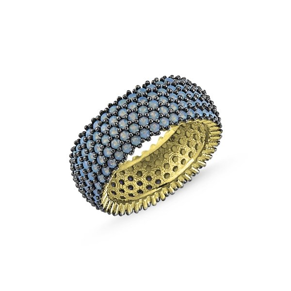 Gold Plated Nano 5 Line Eternity Ring - R84000