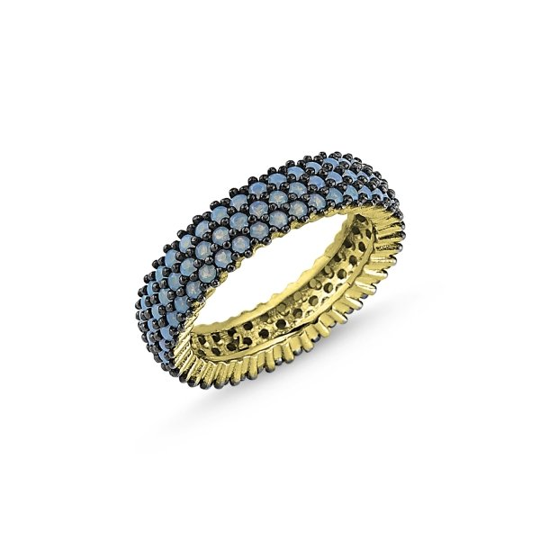 Gold Plated Nano 3 Line Eternity Ring - R84003