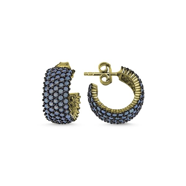 Gold Plated Nano 5 Line Eternity Earrings - E84009