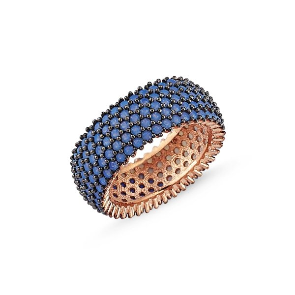 Rose Gold Plated Nano 5 Line Eternity Ring - R84100
