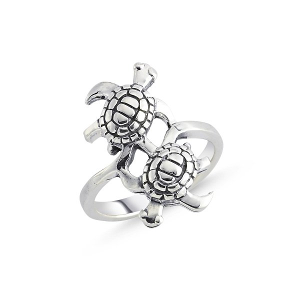 Stoneless Turtle 925 Sterling Silver Ring  - R84113